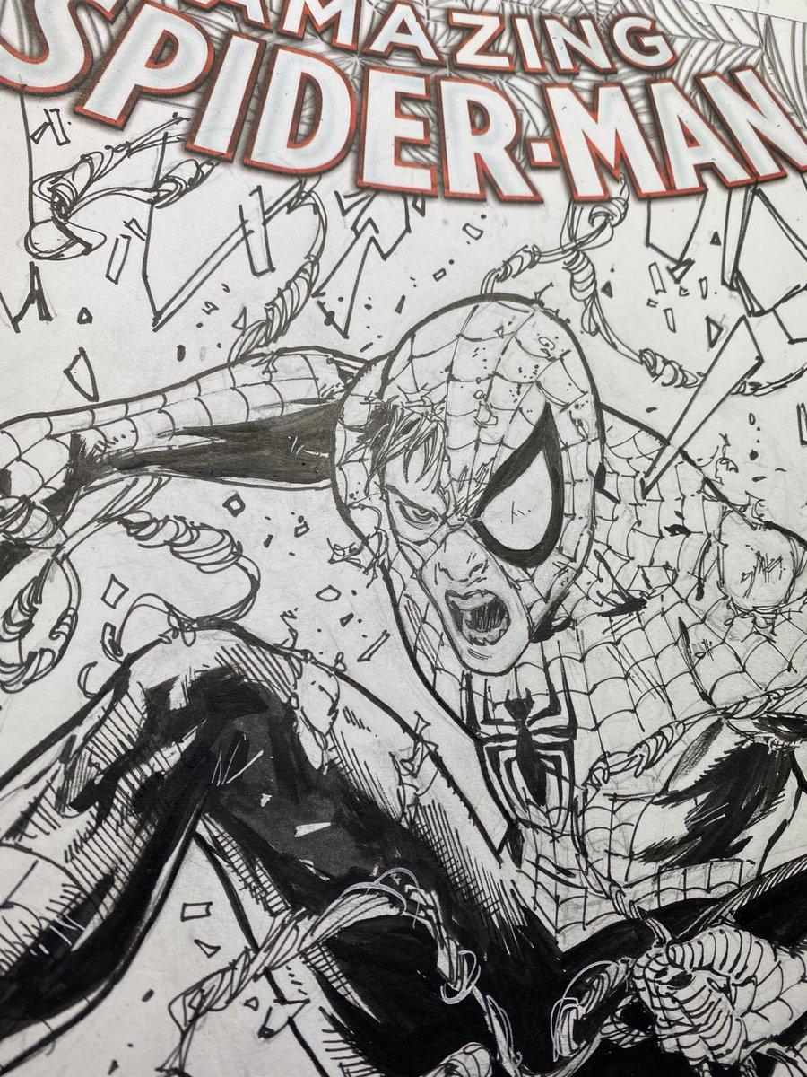 #AmazingSpiderman sketch cover #ink #Marvel #PeterParker