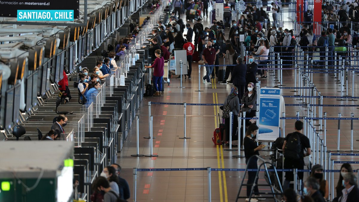 After eight months, Chile is allowing foreign visitors to enter through Santiago, as a part of the first phase of the country's reopening following the devastation of the COVID-19 pandemic. Take a look at some of the scenes from the Santiago International Airport.