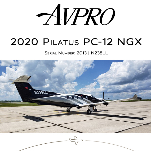New to market - 2020 #Pilatus #PC-12 #NGX at @AvproJets  Aircraft covered under factory warranties More details at: https://t.co/Q2Seo1oekR  #bizjet #bizav #aircraftforsale #privatejet #privateflying #jetforsale #businessaviation