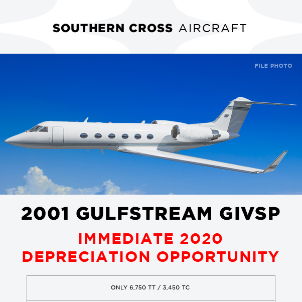 2001 #Gulfstream #GIVSP available at @SCrossAircraft  Fresh 12/24M inspections in progress Ready for entry to service before year end More details at: https://t.co/bYKSDa0f27 #bizjet #bizav #aircraftforsale #privatejet #privateflying #jetforsale #businessaviation