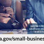 Become a contractor or subcontractor and pursue opportunities to sell to the government! Learn more from GSA's Office of Small and Disadvantaged Business Utilization: https://t.co/BwKXhGAygW  #SmallBusinessSaturday @SBAGov @GSAOSDBU #ShopSmall