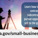 Become a contractor or subcontractor and pursue opportunities to sell to the government! Learn more from GSA's Office of Small and Disadvantaged Business Utilization: https://t.co/BwKXhGiWSm  #SmallBusinessSaturday @SBAGov @GSAOSDBU #ShopSmall