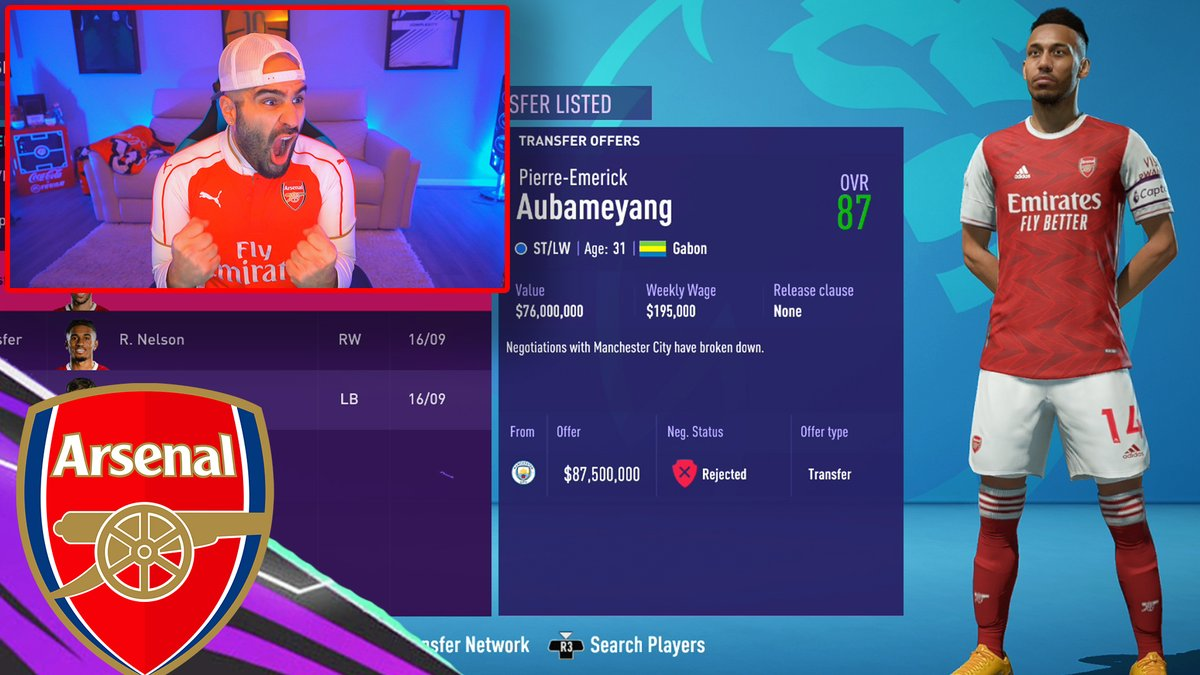 aa9skillz - SELLING AUBAMEYANG FOR RONALDO & MESSI?? FIFA 21 Career Mode Arsenals..  via @YouTube