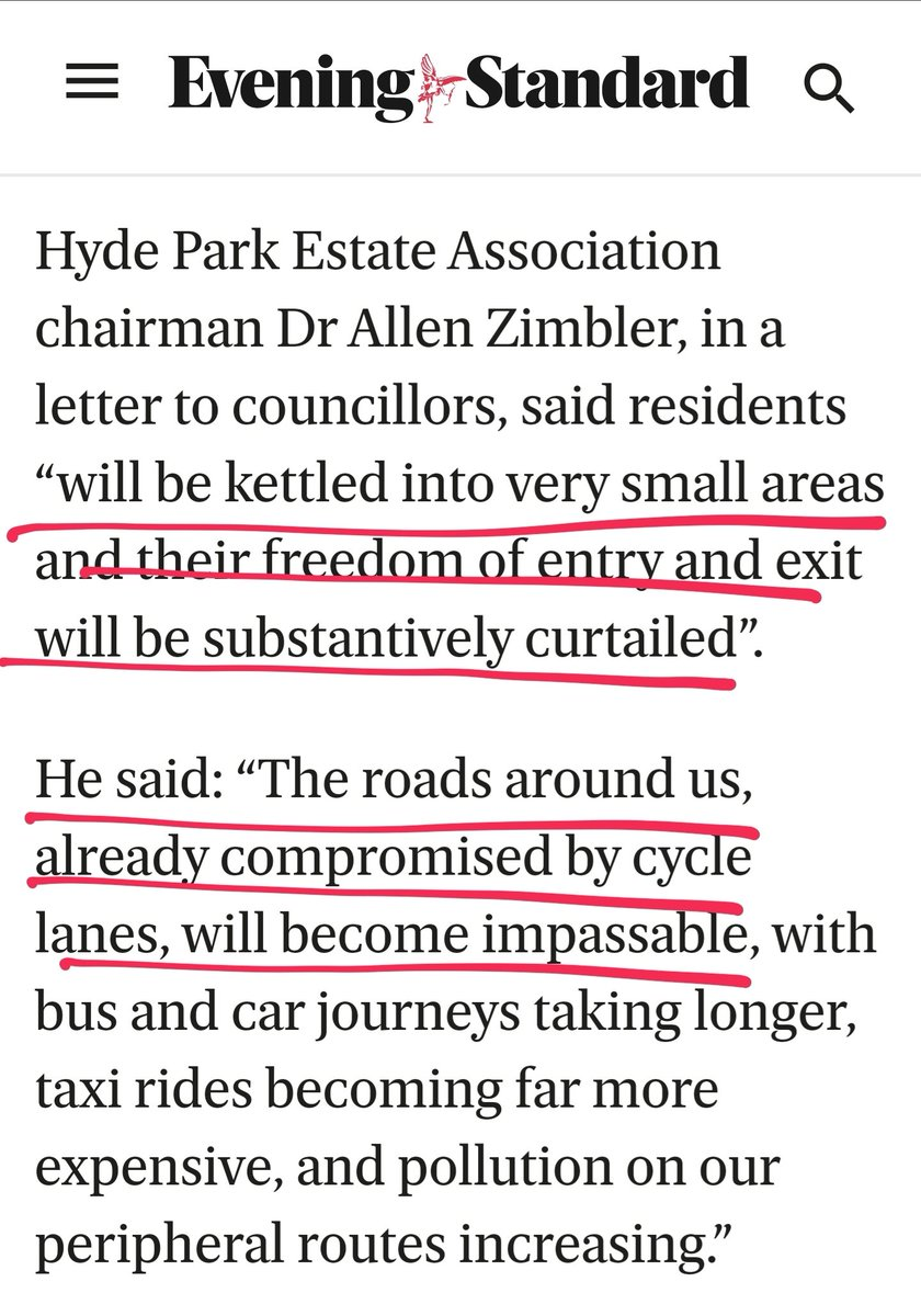 """I can't believe some of the stuff I'm reading on LTNs.  This gentleman says residents will be """"kettled"""" — suggesting physical movement is impossible without a car.  He says his local roads are """"already compromised by cycle lanes"""" — sorry, are bicycles killing 1,800 people a year? https://t.co/HU0CAKf0rZ"""