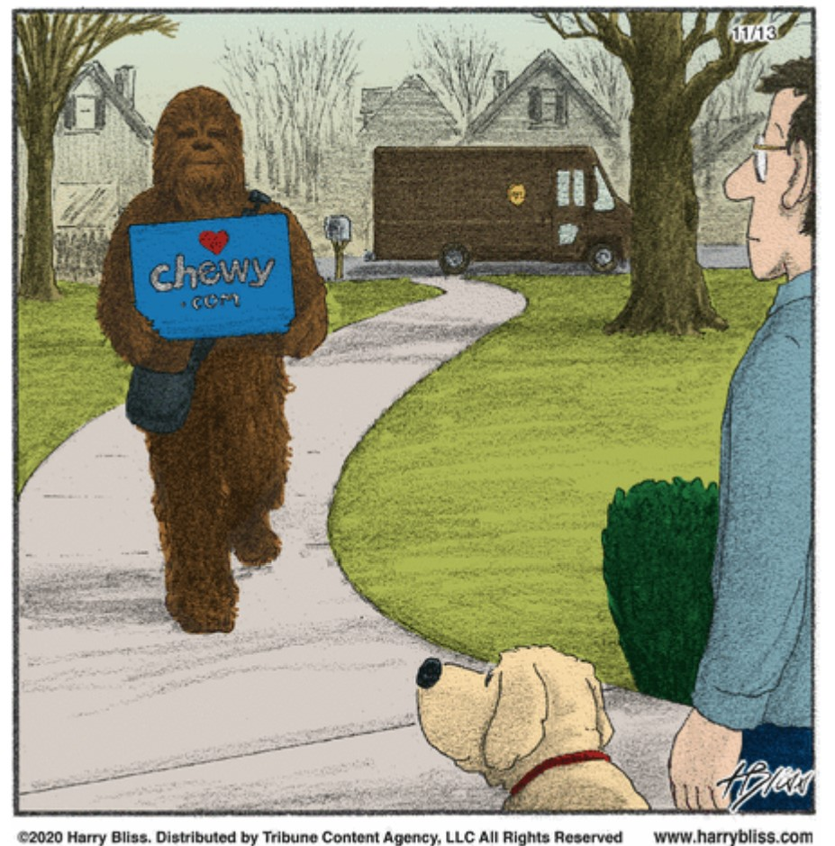 . #StarWars #Chewbacca Delivers #Dog Stuff  #dogs #doggy #dogsoftwitter #mydog #dogslife #doglover #puppy #dogsarelove #lovemydog #dogslife #dogsarefamily #pets #animallovers #comics #cartoon #lol #comedy #jokes #humor #hilarious #laughter #funny #fun #smile #laughing #lmao #haha