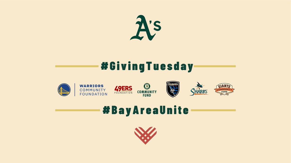 Were teaming up with our friends from all over the Bay Area for a special #BayAreaUnite Giving Tuesday fundraiser. Join us from Dec. 1-4 by making an online donation to help support our initiatives serving Bay Area youth. Stay tuned next week for the donation link!