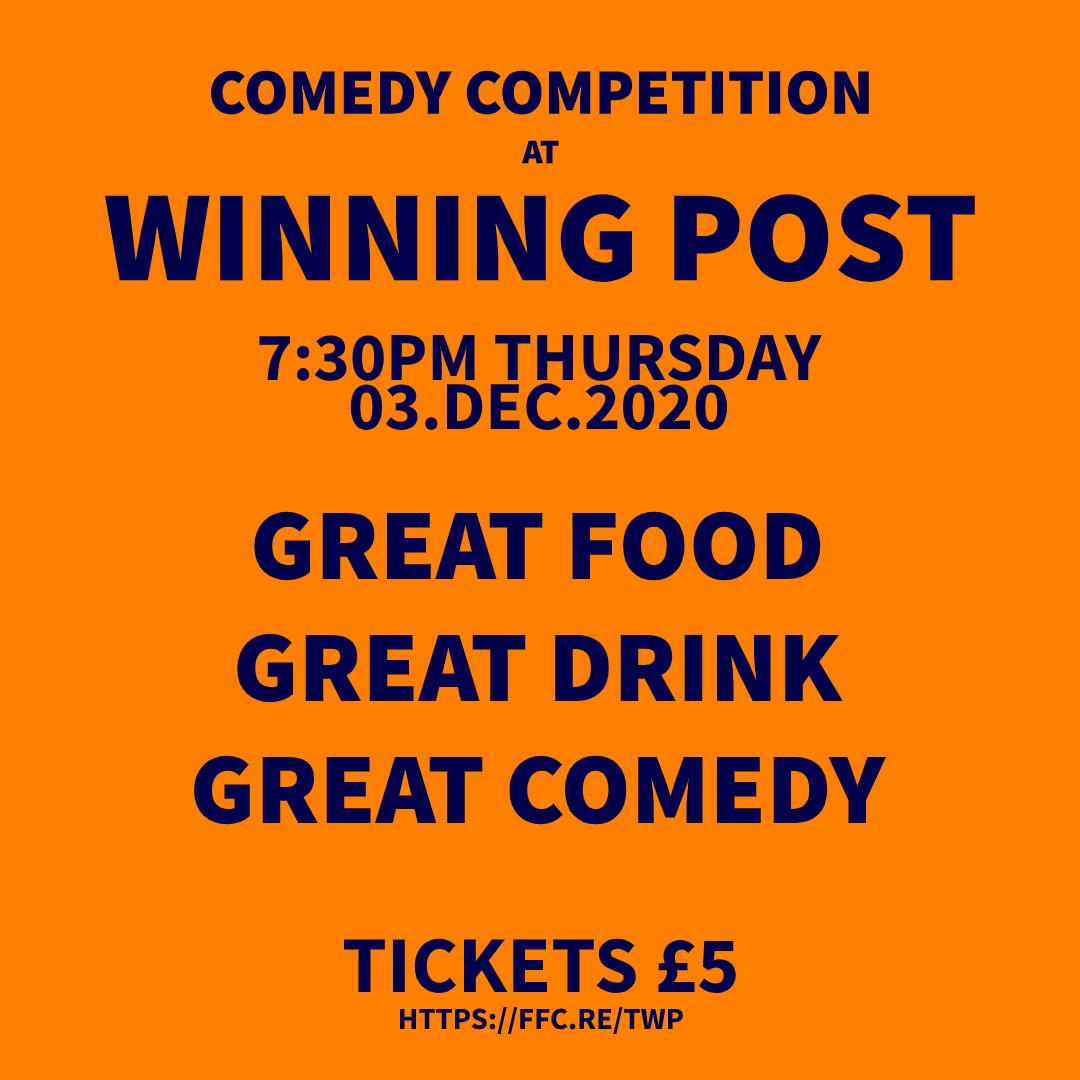 Tickets now available for Glorious!  @WhittonWeekly @WhittonVillage @twickerati @DiscoverTwick  The final show of the year  Come and help us give two fingers to 2020!  #twickenham #Whitton #standupcomedy #comedy #richmond #london #laughter #happiness #silliness @greeneking