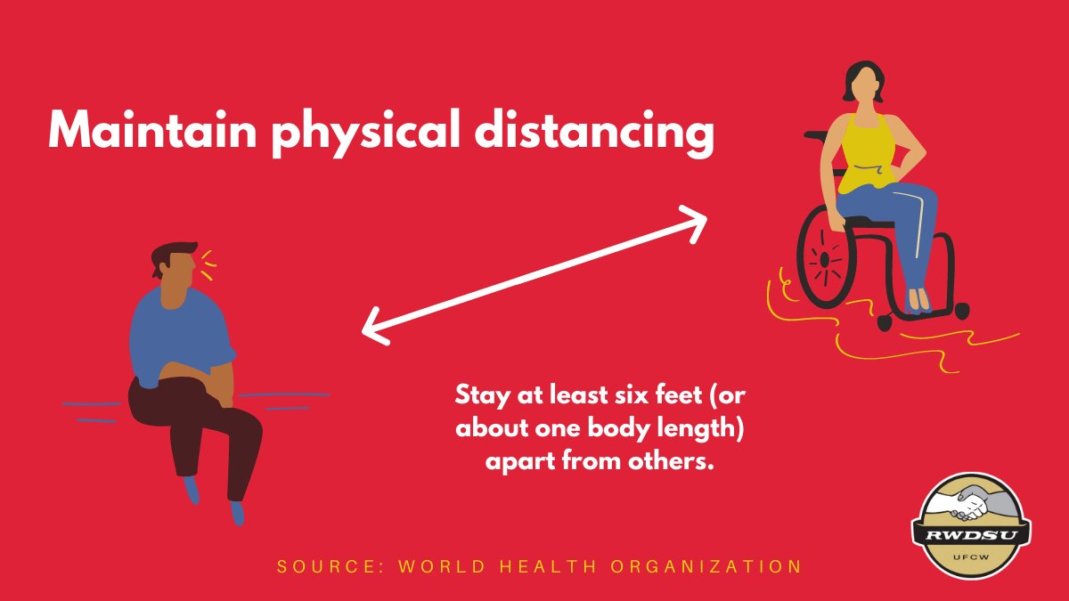 At lunch? Always maintain 6-feet of distance, it's safer for everyone. #COVID19 #1u #UnionStrong