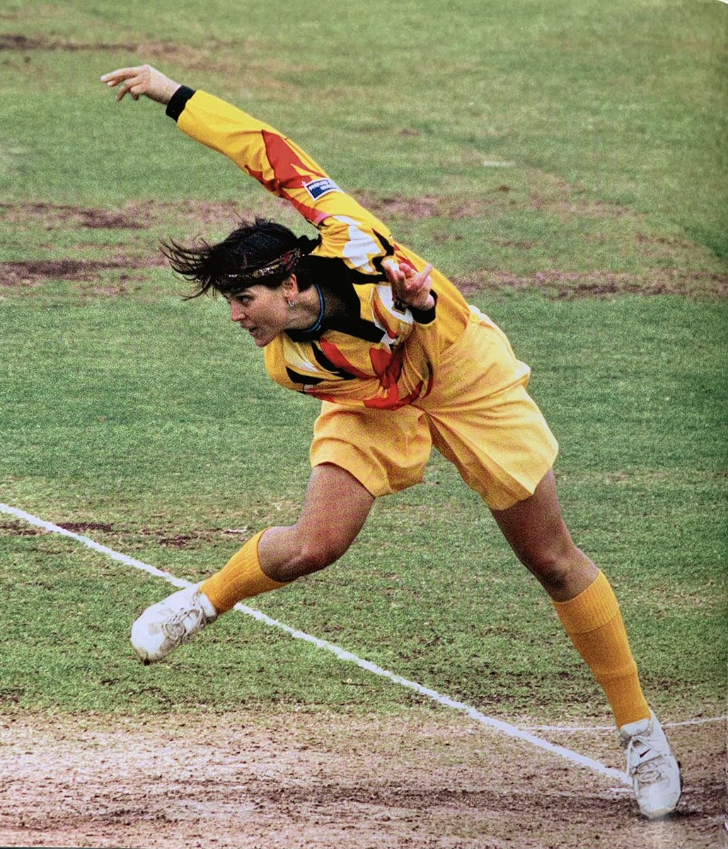 "Zoe Goss' 1994 dismissal of Brian Lara in a nationally-telecast match was a rare moment of publicity for women's cricket. Media refused to cover them for another 20 years. Women's performances now force media to take notice. Pix from ""Clearing Boundaries"" to be launched tomorrow."