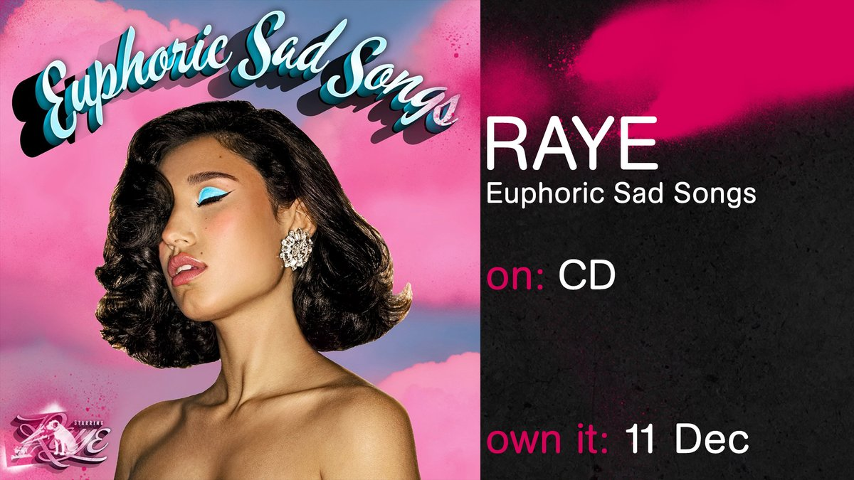 Replying to @hmvtweets: New album from @raye: #EuphoricSadSongs coming 11th Dec  Pre-order here: