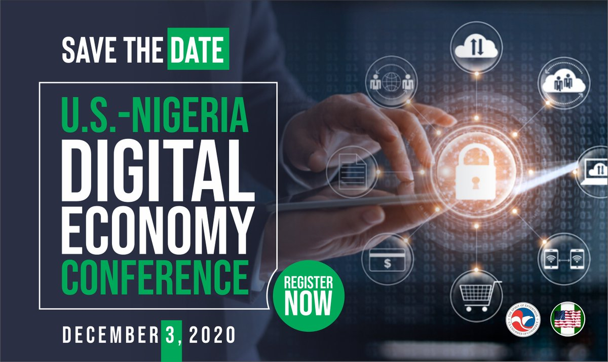 test Twitter Media - We're 10 days away from the U.S.-Nigeria DE Conference Dec. 3. We'll discuss #workforcedevelopment & #crossborderdataflow in pursuit of an inclusive #digitaleconomy in Nigeria. Join @USChamberAfrica and @ABCouncil_ng - register at https://t.co/baUqa8Rdqu #DigitalNigeria2020 https://t.co/XpHLnI3sEw