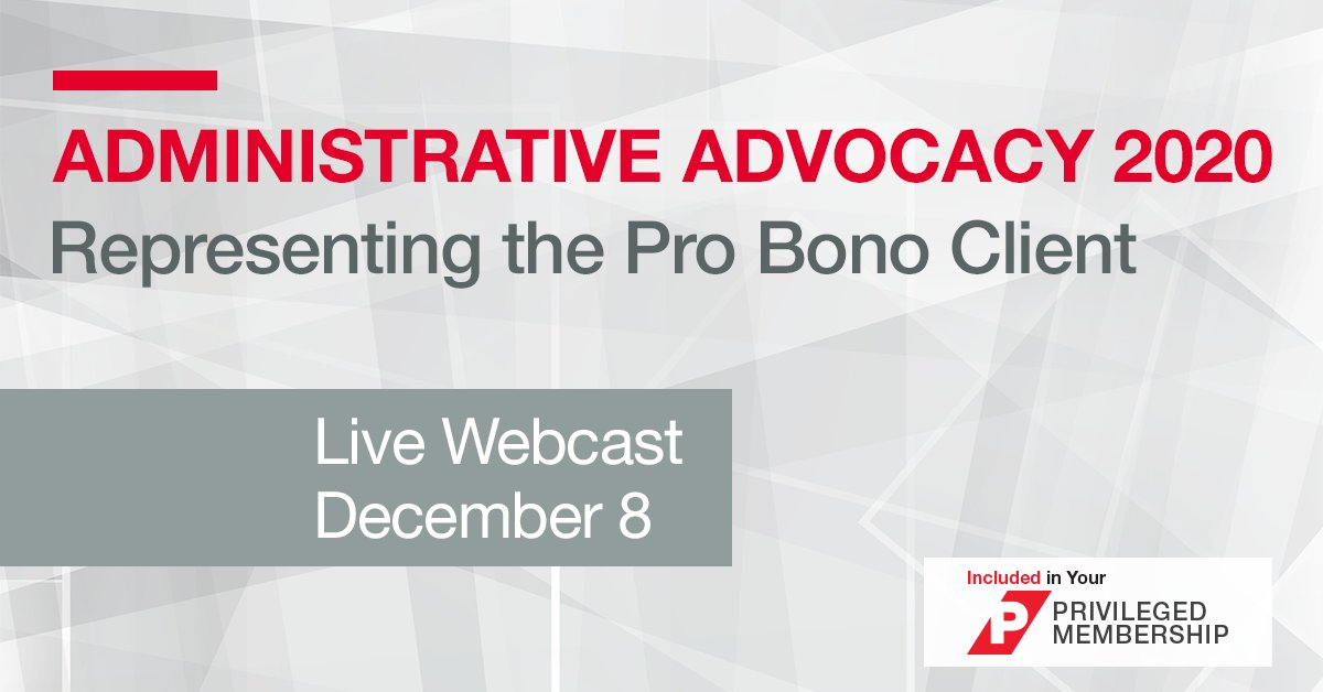 Register now to learn about housing and school law administrative proceedings, as well as proceedings dealing with #Medicaid, Social Security and public assistance. Understand what you need to do before, during and after a hearing: #probono bddy.me/3fpt0h5