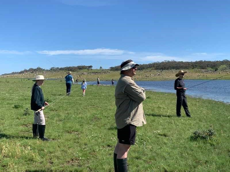 CGS Students from Years 3-6 travelled to Buckenderra, Lake Eucumbene over the weekend to experience a #Flyfishing Adventure Day.