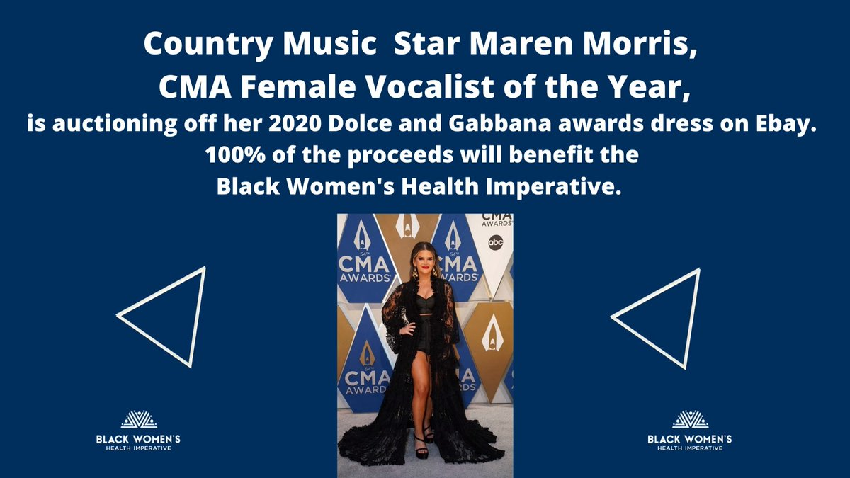 Our allies are the best! @marenmorris won the Best Female Vocalist award and shouted out to Black women in country music: 'I Hope You Know We See You' 💫 Maren we see you and we thank you. To make your bid on Maren's @dolcegabbana awards dress go to @eBay https://t.co/YUzdUjtztN https://t.co/rbd63J8Dqe