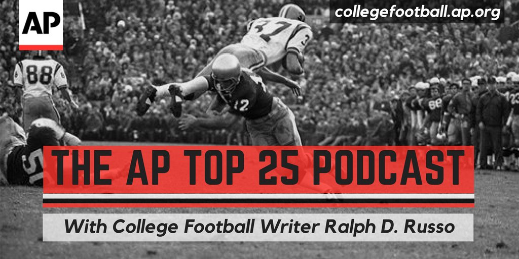 The AP Top 25 Podcast is out a little early this holiday week.  @NicoleAuerbach and I talk about the what to watch for in the playoff rankings AND where this is all going? Plus, FSU-Clemson postponement controversy.