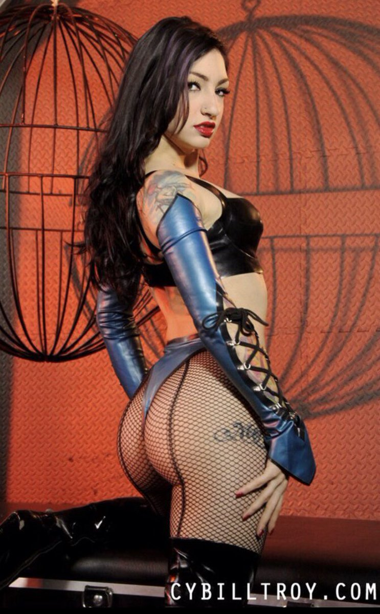 Inspiration: @Cybill_Troy CybillTroy.com BRINGING YOU TO YOUR KNEES Cybill Troy is a skilled Dominant Fetishist & Sadist. A lifelong Female Supremacist with effortless Dominance and a seductive smile. The pure joy she feels as you suffer in her honor is enough.
