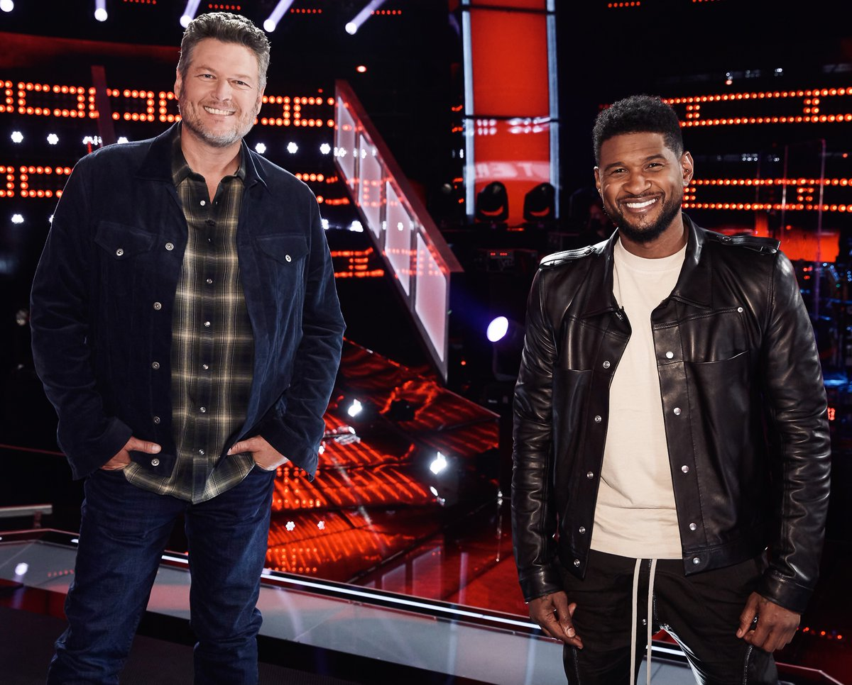 Big thank you to @Usher (or as I like to call him.. Gusher) for all the help during the knockouts! #TeamBlake #VoiceKnockouts