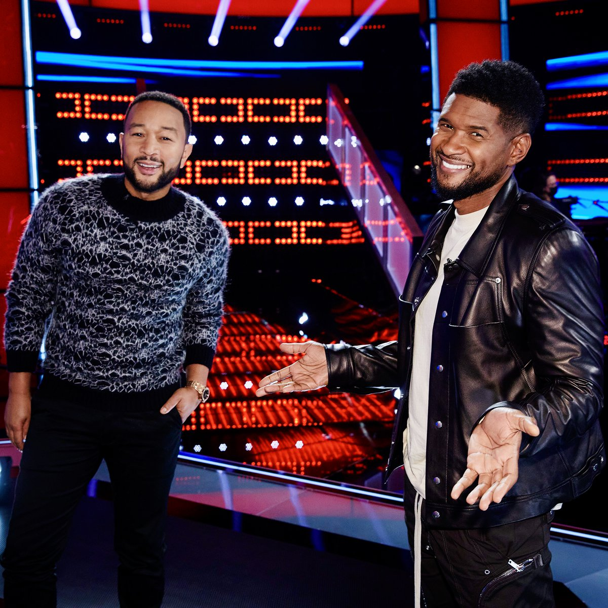 Who's ready for another great night of Knockouts tonight??  Our MegaMentor @usher and I are ready for @NBCTheVoice!  Show #TeamLegend your love!