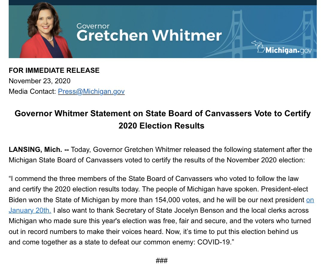 The Best Michigan Election Results 2020