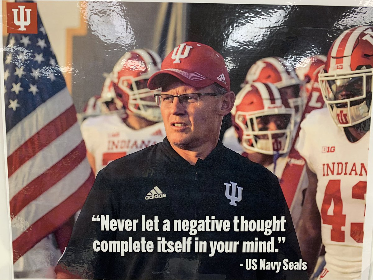 I look at this every time I walk into my classroom. Even on your worst day, you have to have a positive mindset, positive outlook. @CoachAllenIU