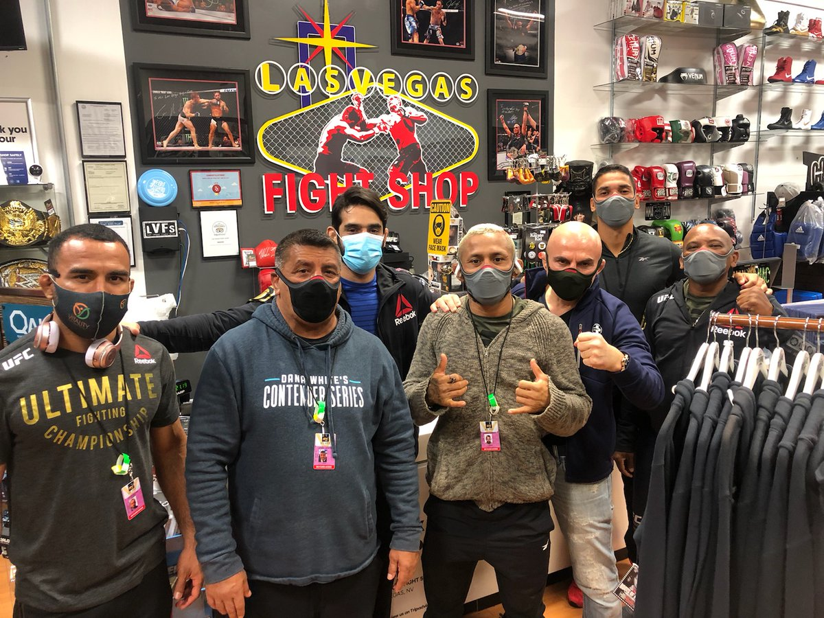 Top story: @LVFightShop: 'Shout out to the CHAMP Deiveson Figueiredo and Team for stopping by the store last night! 👊👊 #UFC255 ' , see more