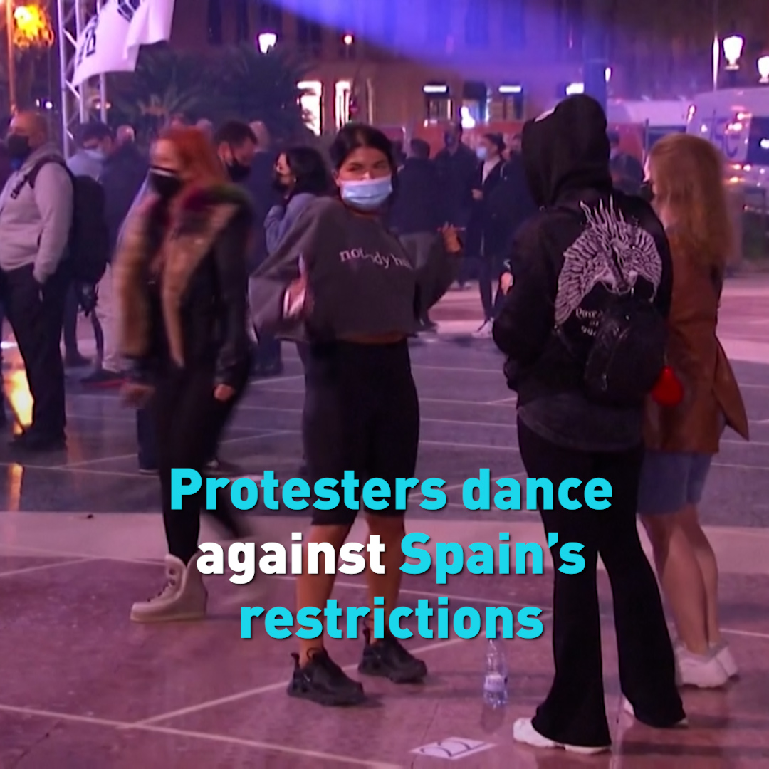 Dancers protest Barcelona's continued closures of nightclubs