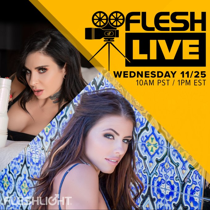 Come hang out on this week's FleshLive with your favorite host and Fleshlight Girl, the incredibly talented