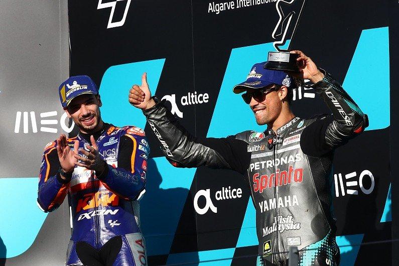 "Morbidelli knew Oliveira was ""unbeatable"" early in #MotoGP #PortugueseGP #WIN"
