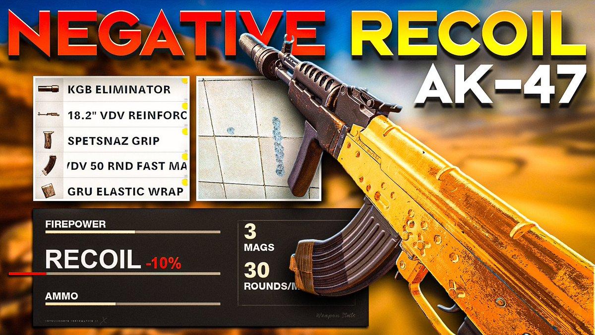 ShawnJ Gaming - NEGATIVE RECOIL AK-47 in BLACK OPS COLD WAR is LIKE AIMBOT/ BEST AK-47 C...  via @YouTube 🚨NEW VIDEO🚨 DROP A LIKE 💚⚡️ #BlackOpsColdWar