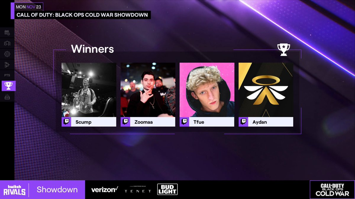 Tfue - Twitch Rivals Winners!!! thanks for the carry @scump @ZooMaa @aydan