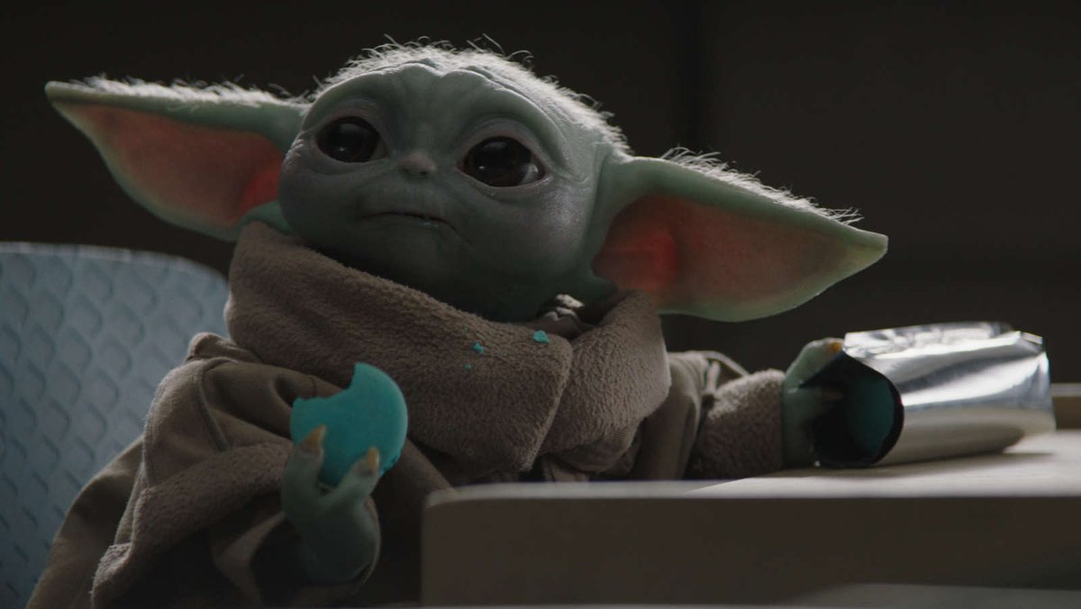 Replying to @io9: Baby Yoda's favorite blue cookies will set you back $50 a dozen