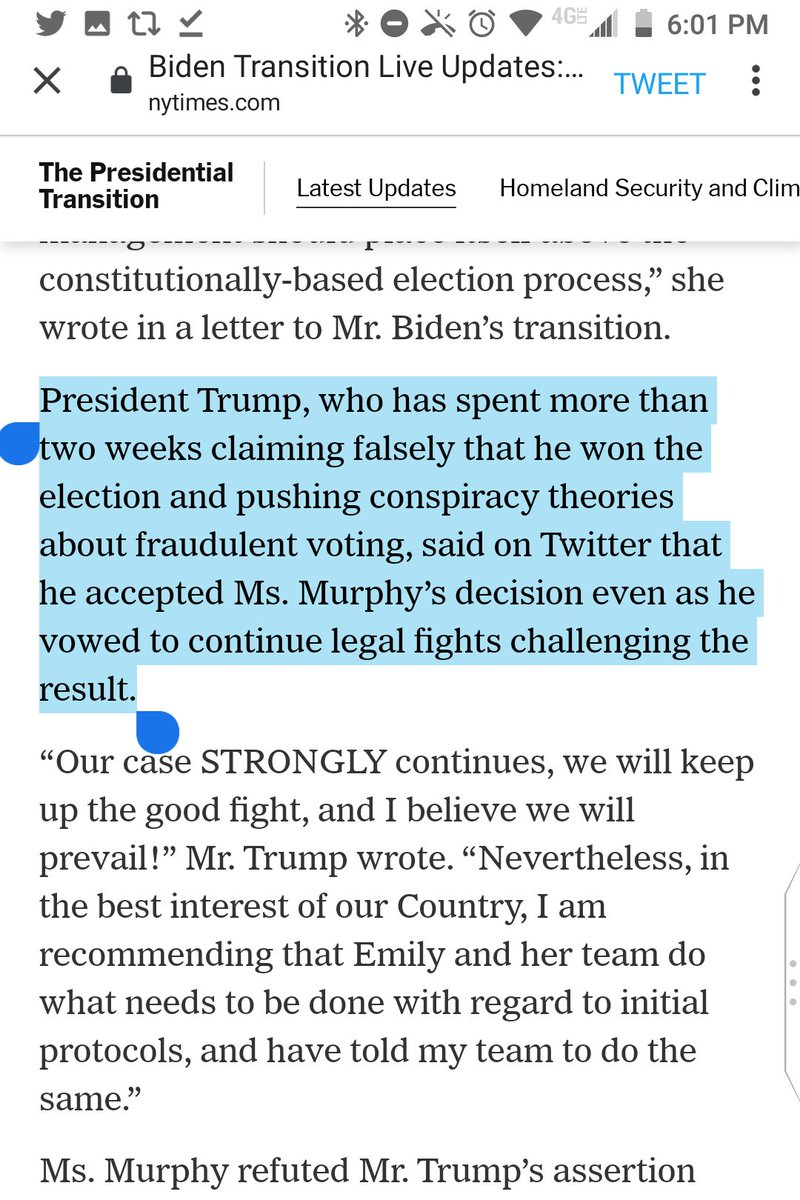 """Read the item yourself.  It says """"Ms. Murphy refuted Mr. Trump's assertion that he directed her to make the decision."""" https://t.co/PgC9bHgfZ6"""