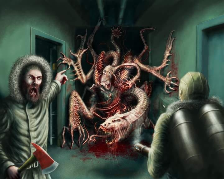 🦑Man is the warmest place to hide!🎨Jovan Delic🦑#JohnCarpenter #TheThing #Lovecraftian #Mythos #Horror