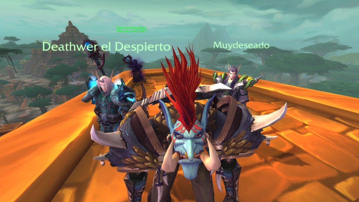 antes de cruzar el velo @muydeseado  @Werote20 #Shadowlands #Warcraft los meros campiones