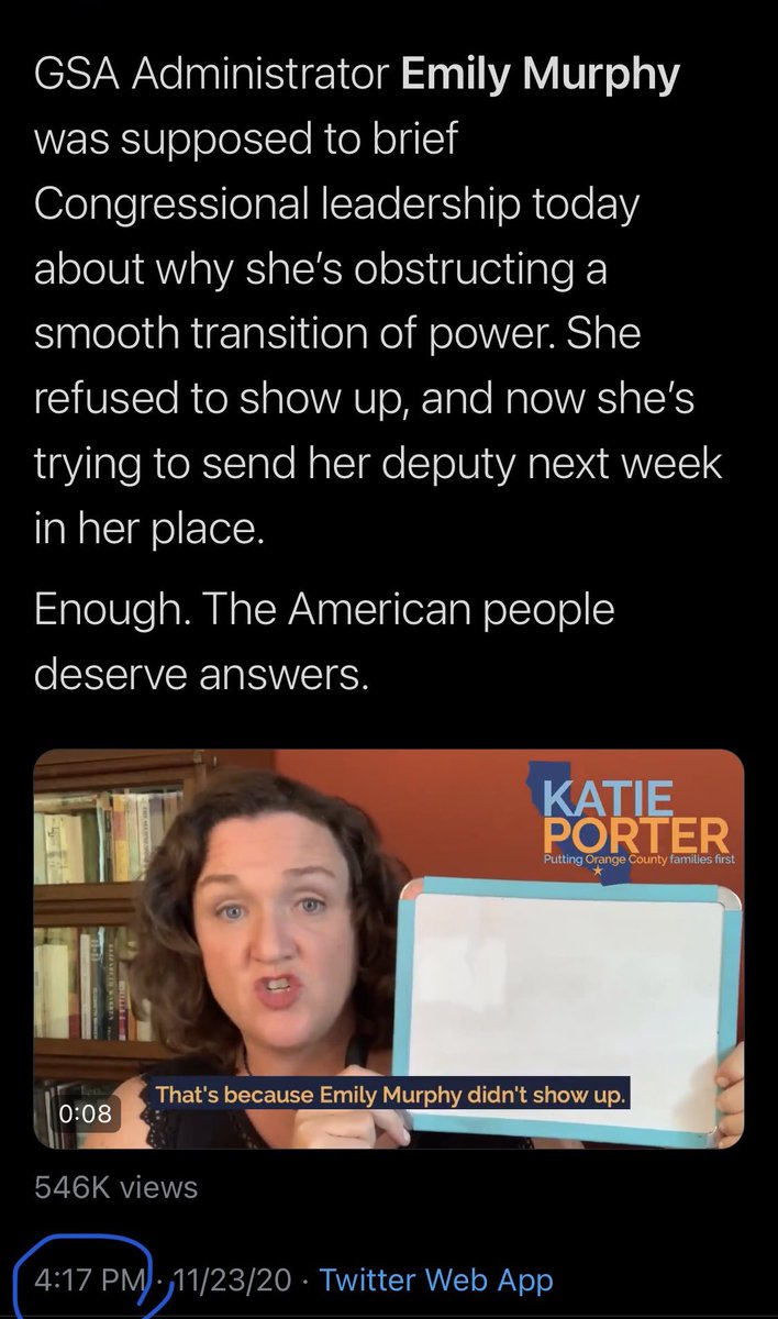 I'm not saying that @RepKatiePorter's whiteboard has powers but....... #TransitionToBiden