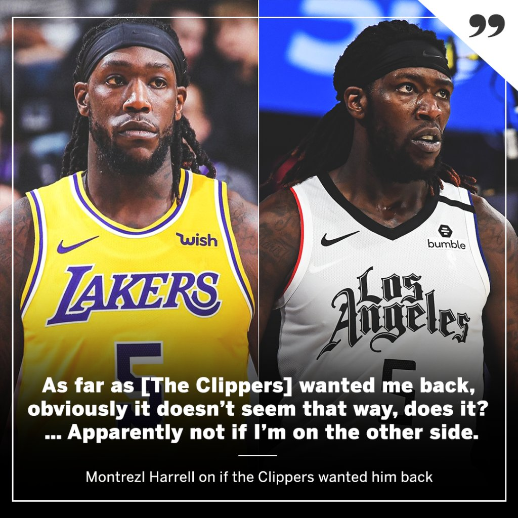 Montrezl Harrell says he went to the team where he felt wanted. https://t.co/Niqan1KlJy