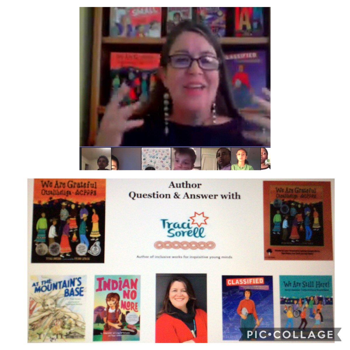 4th and 5th grade Ss ⁦<a target='_blank' href='http://twitter.com/CampbellAPS'>@CampbellAPS</a>⁩ were grateful to hear Traci Sorrell, co- author of the book, Indian No More, which our Community Book Club read to explore identity and equity. ⁦<a target='_blank' href='http://twitter.com/APSLiteracy'>@APSLiteracy</a>⁩ ⁦<a target='_blank' href='http://twitter.com/bibliobunny'>@bibliobunny</a>⁩ ⁦<a target='_blank' href='http://twitter.com/tracisorell'>@tracisorell</a>⁩ ⁦<a target='_blank' href='http://twitter.com/ELeducation'>@ELeducation</a>⁩ <a target='_blank' href='https://t.co/KegX7mU9G5'>https://t.co/KegX7mU9G5</a>