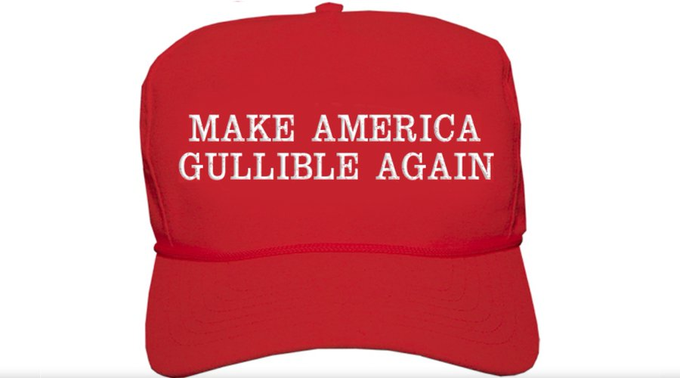 Dear Republicans  YOU'VE BEEN PLAYED  We were NEVER the target. You were  He was never a Billionaire. His peak wealth was a $400 million inheritance, which he destroyed. Trump owes $1.1 Billion  He PLAYED YOU Wearing his hat?  MAGA = Make America Gullible Again  #TrumpTheFool https://t.co/ihfRXDAsMC