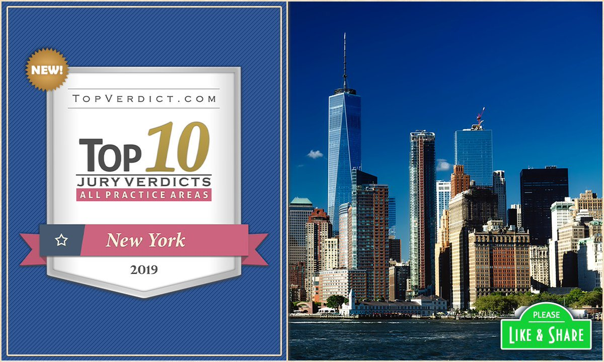 Congrats to the law firms & lawyers who made the list of Top 10 Verdicts in New York in 2019:   /\____ Please Like/Follow Our Page ____/\  #TopVerdicts #BestLawFirms #BestAttorneys #BestLawyers #NYC #Brooklyn #Queens #Bronx #Westchester #Buffalo #Rochester
