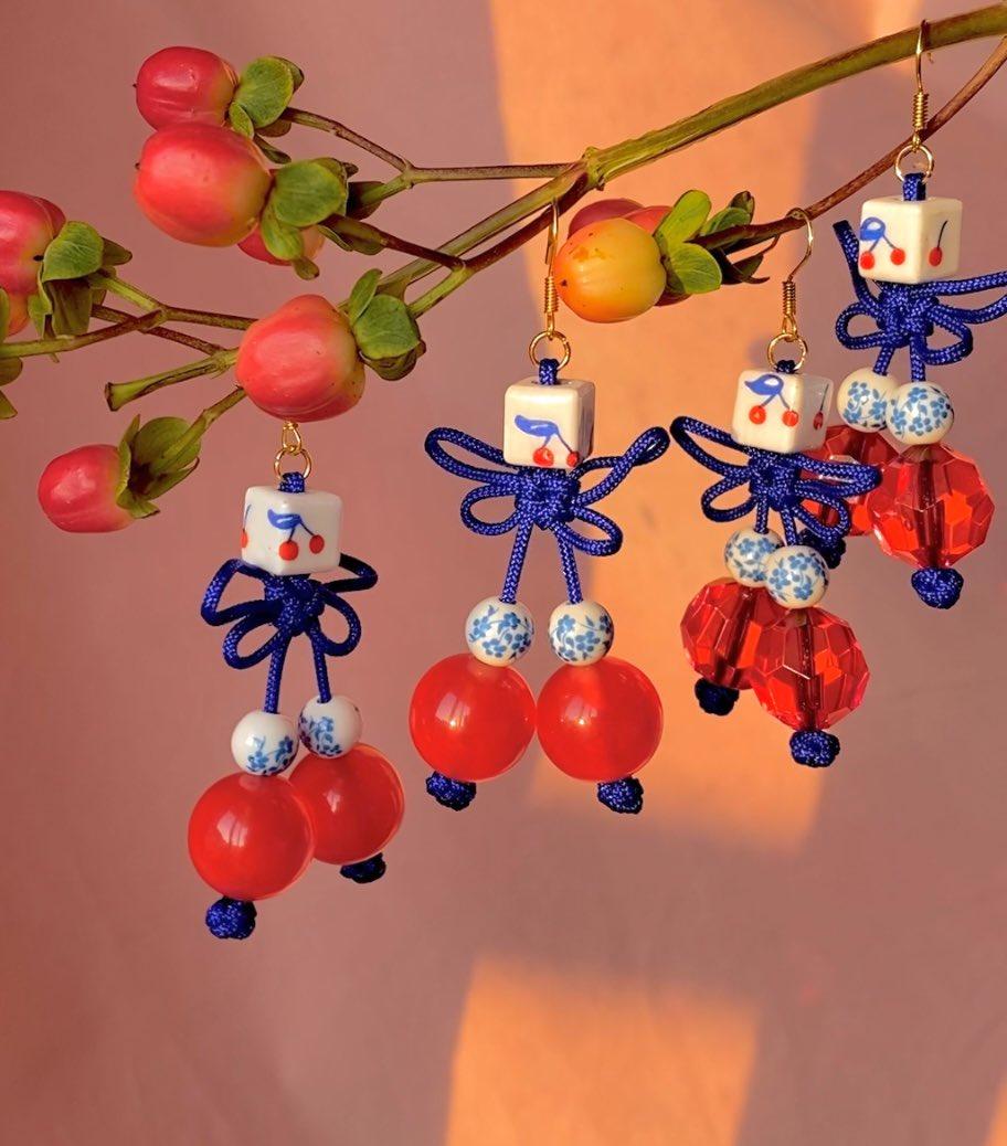 cherry earrings 🍒✨