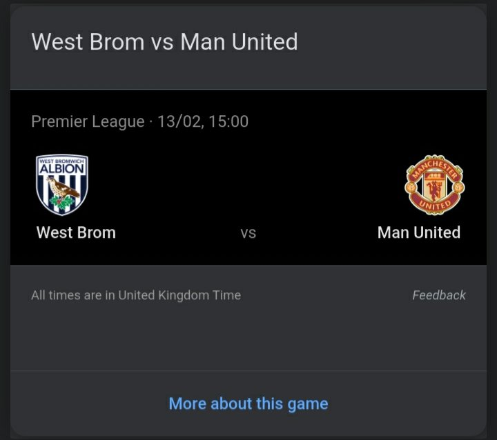 @chloebeard123 It'll be absolutely electric and then we'll stick it to #VARchesterUnited in February and get our revenge. Let's continue to rally behind Bilic and the team and, with the Baggies fans back in the Hawthorns, we'll easily take 3 points against them! #MUNWBA #DavidCoote #WBA #WBAFC