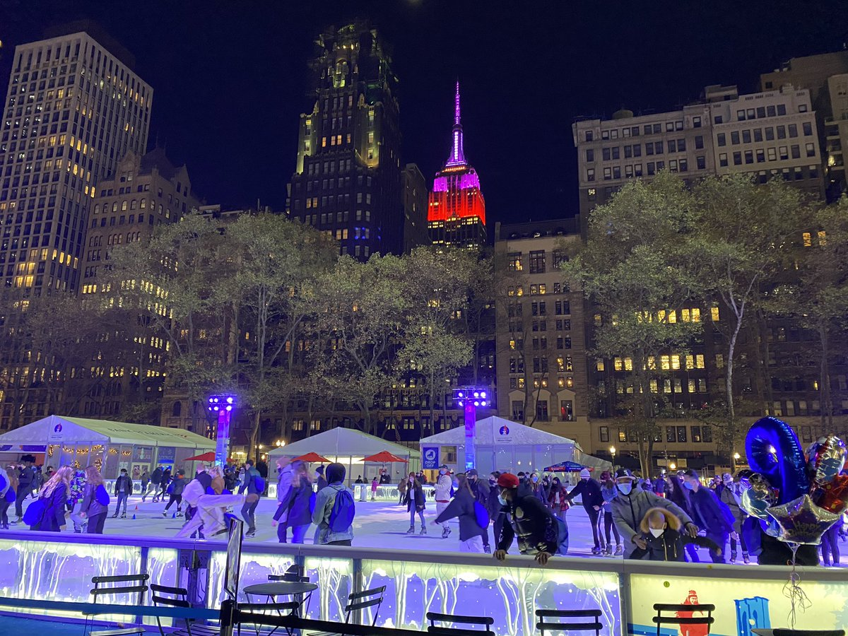 Bryant Park in full winter swing #nyc