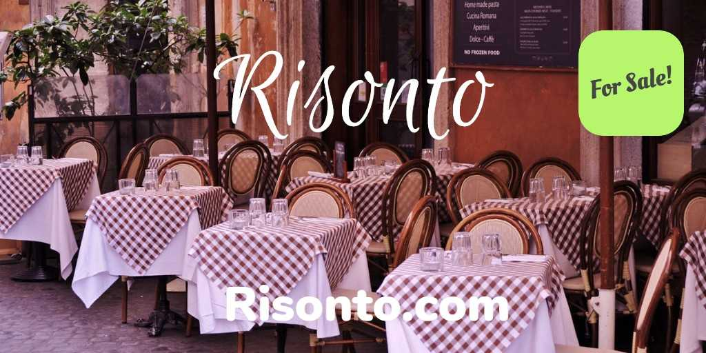 Risonto .com is a name built on the Italian name Riso meaning #laughter making this a fun name for a #luxury #brand - great for:  #Restaurant #Travel #FoodIndustry   Get it now @Squadhelp #SoundOfLaughter #Startups  #Risonto