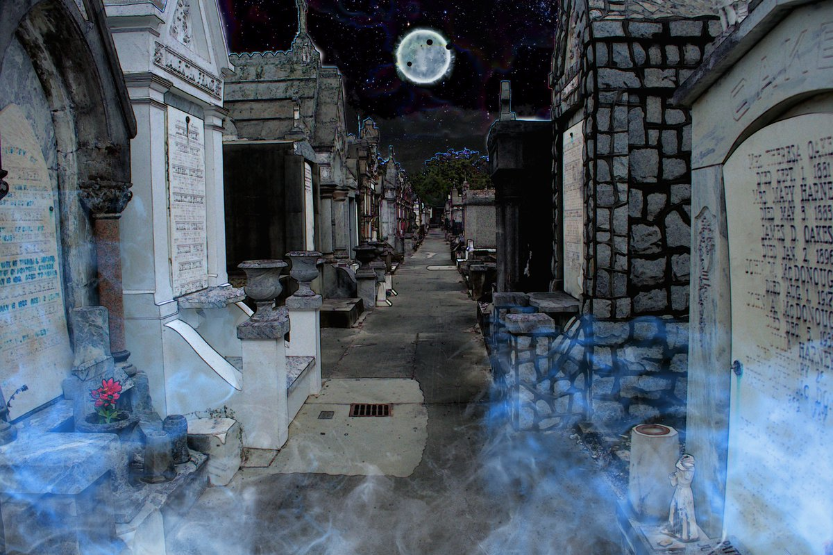 I Awoke to a Whole New World (Walking in the City of the Dead 101)   Grey Cross Studios #NewOrleans #NOLA #bigeasy #art #artist #photography #photographer #surrealism #cemeteries #spirits #ghosts #NOLAArts #Taphophile