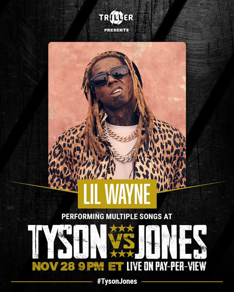 Stoked to be performing on this historic night. Live on Pay-Per-View this Saturday at 9pm ET @Triller #TysonJones!! @miketyson @royjonesjrofficial @naterobinson @jakepaul 🤙🏾