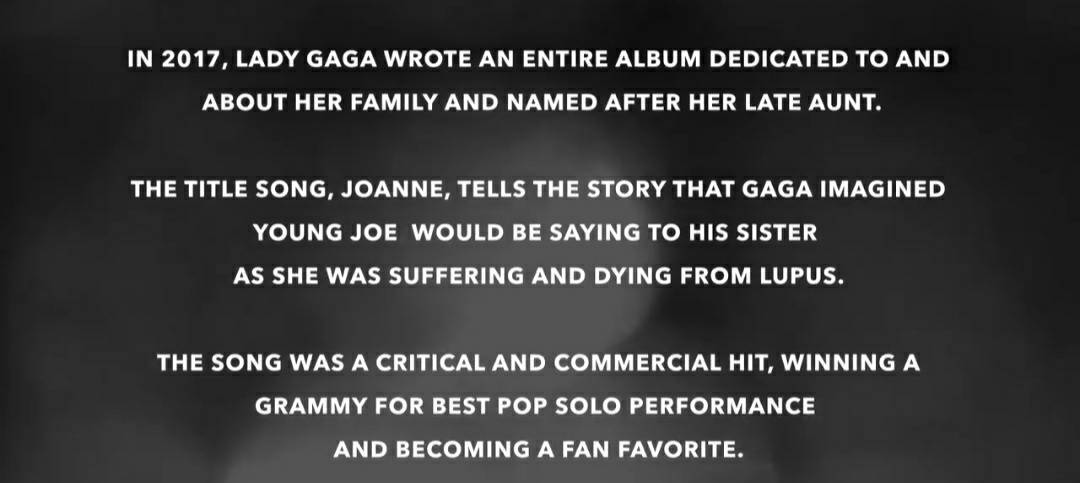 A statement about Lady Gaga and the song Joanne used at the Lupus Research 2020 Virtual Fundraising Event. #LupusResearchAlliance2020