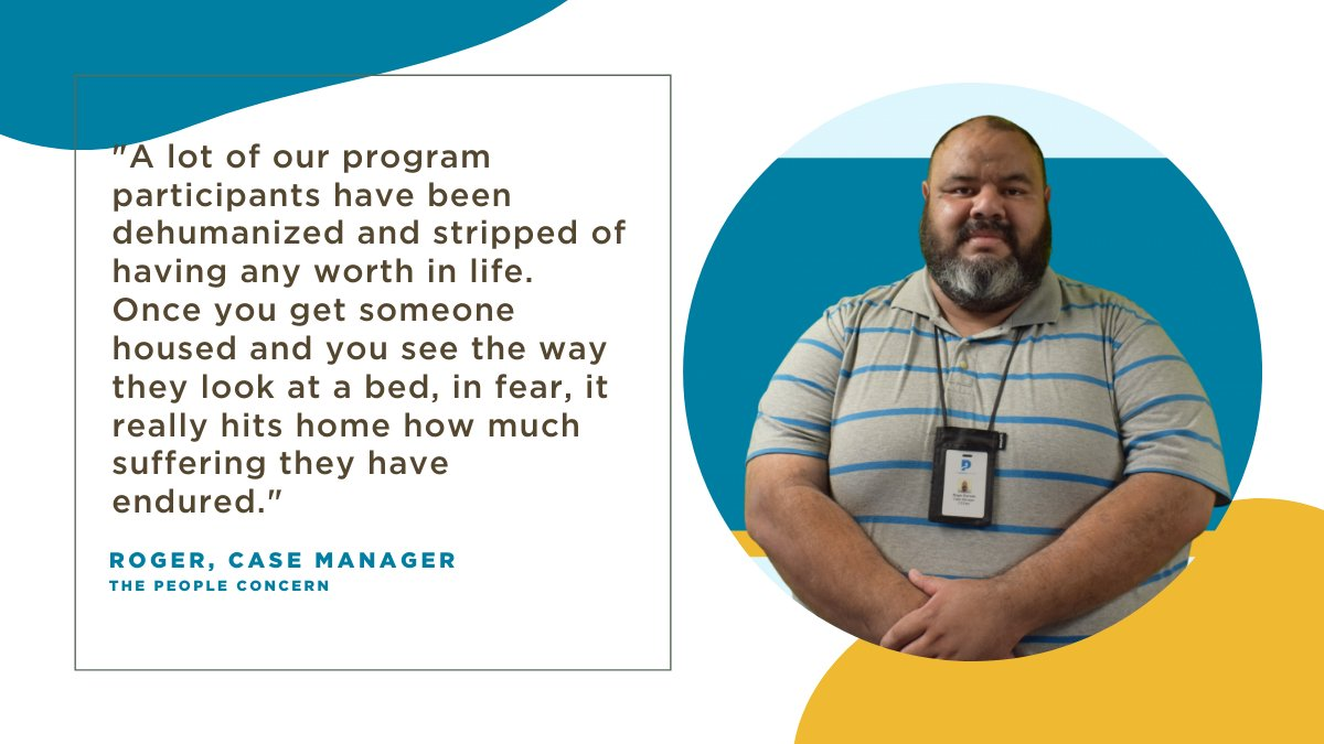 Meet Roger! Roger has worked with @ThePplConcern for 2 years as a Case Manager for the Skid Row C3 Outreach Team. He assists our program participants in accessing services and resources to help rebuild their lives. Thank you Roger and all of our incredible staff for your work!