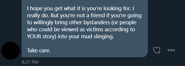 kaitlyn - My assault and wanting to speak about my assault is mudslinging.  That my former boss would talk to me about wanting threesomes with cast members is mudslinging.  That I was assaulted by multiple people on RP is mudslinging.