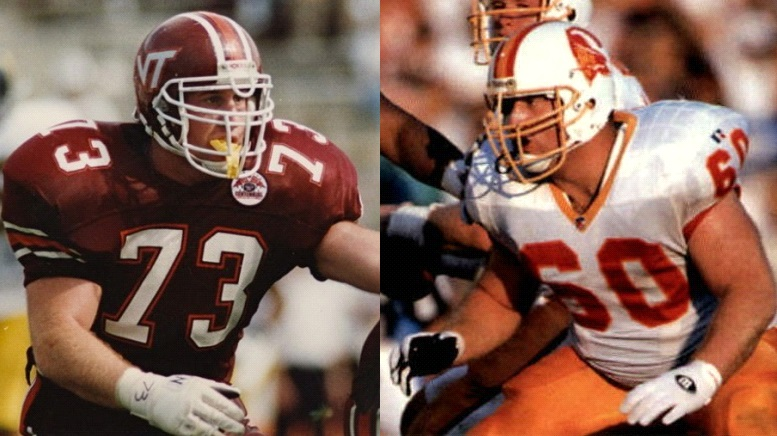 Happy Birthday, Jim Pyne!!  🎈🎂🎉🎁🎊🎈🎂🎉  OL Jim Pyne was the #Hokies first-ever unanimous All-American. He was drafted by the @Buccaneers & played 9 seasons in the @NFL, becoming the first 3rd generation player in pro football. The #Hokies retired his number 73.  🦃 #Legend