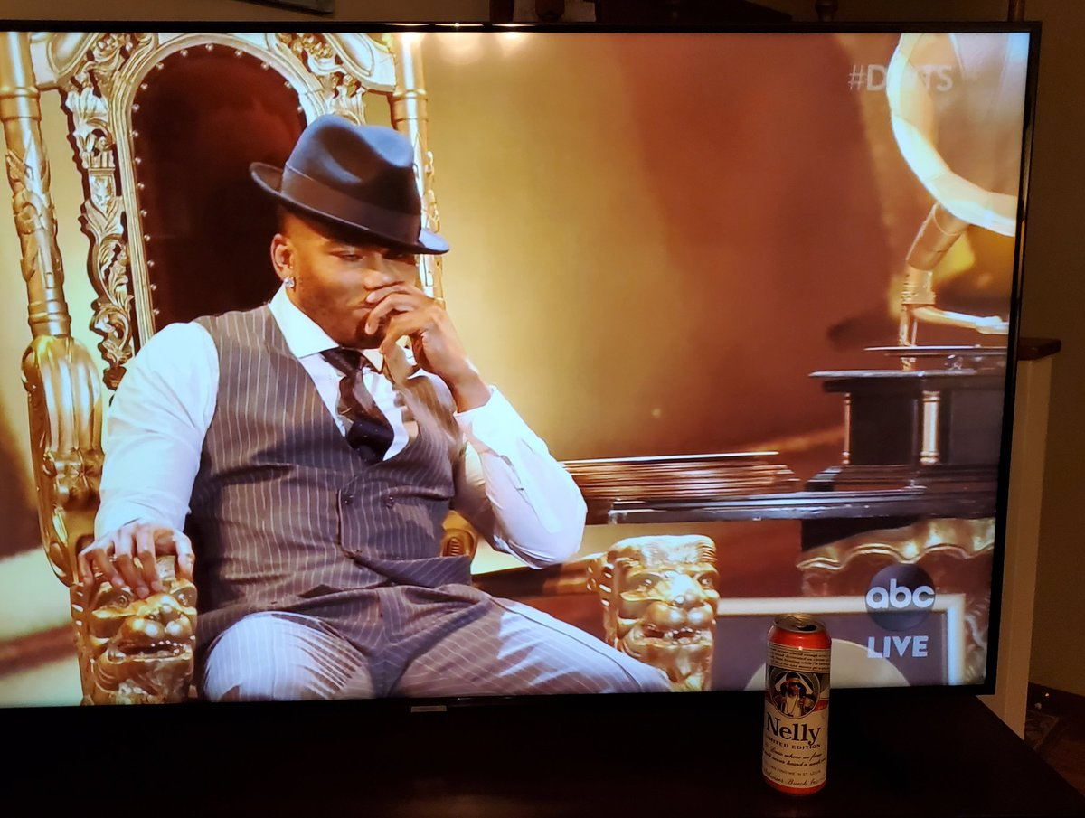 Replying to @MHoosier63: #DWTS @Nelly_Mo Thank You for the escape from Covid and politics. Cheers with my Nelly Beer!
